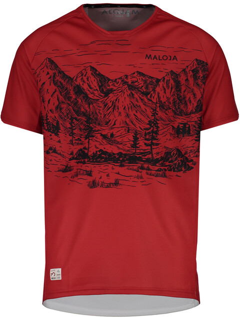 Maloja SerlasM. Short Sleeve Multisport Jersey Men red poppy